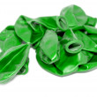Not inflated green balloons — Stock Photo