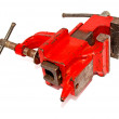 Red vise tool — Stock Photo