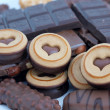 Chocolate and biscuits - Stockfoto