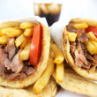 Stock Photo: Greek food gyros
