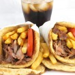Greek food gyros — Stock Photo
