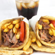 Greek food gyros - Stock Photo