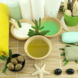 Stock Photo: Olive oil products