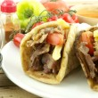 Gyros or kebab — Stock Photo