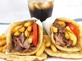 Greek food gyros — Stock Photo