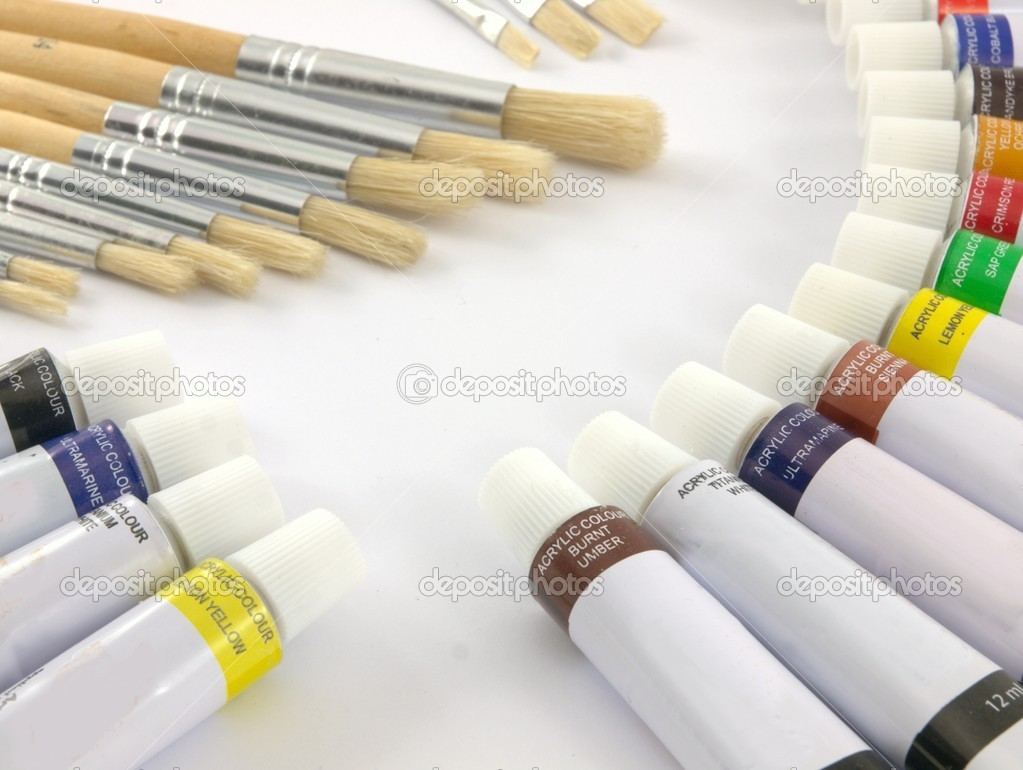 Paint tubes — Stock Photo #4043310