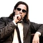 Постер, плакат: Businessman with cigar