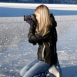 Paparazzi on ice - Stock Photo