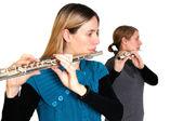 Transverse flute — Stock Photo