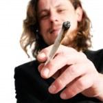 Man smoking weed — Stock Photo #4911039