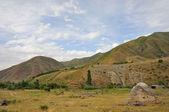 Small jurt in mountains — Stock Photo