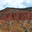 Startling Red canyons in Kyrgyz mountain — Stock Photo