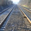 Railroad tracks. Rails — Stock Photo