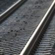 Railroad tracks. Rails — Stock Photo