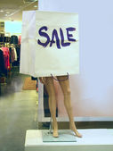 Advertising, sale of clothes, dummy — Stock Photo