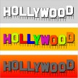 Stock Vector: Hollywood font