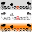 Stock Vector: Cinemtheme background