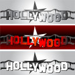 Hollywood star — Stock Vector