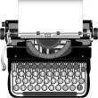 Old typewriter - Stock Vector