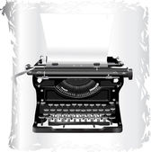 Old typewriter — Stock Vector