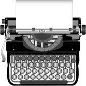 Old typewriter — Stock Vector