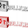 Stock Vector: Hollywood banner