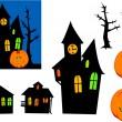 Halloween ghosts. — Stock Vector