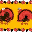 Stock Vector: Thanksgiving turkey.
