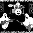 Stock Vector: Halloween ghosts.