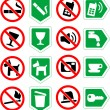 Restrictive signs. - Stock Vector