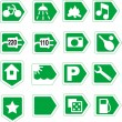 Stock Vector: Green signs.