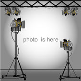 Photo of an empty photographic. — Stock Vector