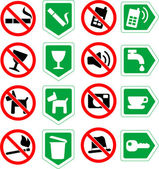 Restrictive signs. — Stock Vector