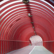 Royalty-Free Stock Photo: Red Tunnel Walkway