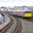 Stock Photo: Train on Ryde Pier in Isle of Wight, England