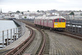 Train on Ryde Pier in the Isle of Wight, England — Стоковое фото