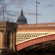 Blackfriars Bridge on the River Thames in London — Stock Photo