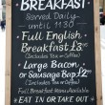 Breakfast Menu — Stock Photo