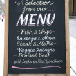 Stock Photo: Menu Board