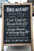 Breakfast Menu — Stock Photo