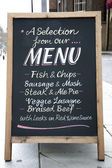 Menu Board — Stock Photo