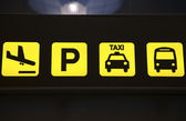 Airport Transport Sign — Stock Photo