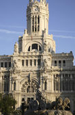 City Hall and Cibeles Fountain, Madrid — Stock Photo