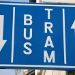 Bus and Tram Lane Sign — Stock Photo #4100206