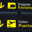 Stock Photo: Baggage Reclaim and Airport Gate Sign