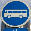 Bus Sign — Stock Photo