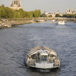 Stock Photo: Boat on River Seine