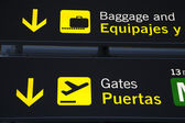 Baggage Reclaim and Airport Gate Sign — Stock Photo