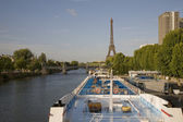 River Seine and Eiffel Tower, Paris — Stock Photo