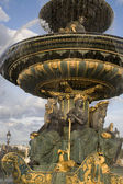 Fountain in Place de la Concorde Square, Paris — Stock Photo